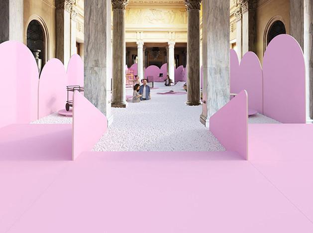 Vasku & Klug: розовые арки и пена на Миланском вокзале