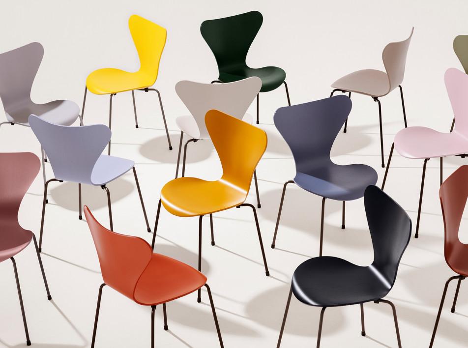 Тренды 2020/2021: новая палитра стульев Арне Якобсена
