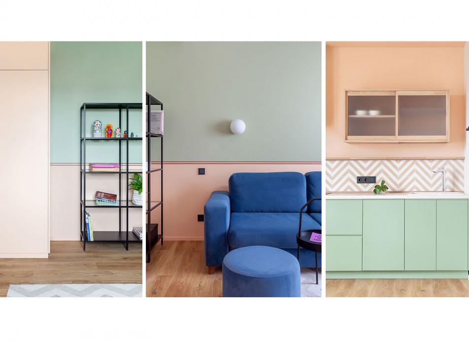 Студия «КубКвадрат»: квартира с цветом 60 кв. метров