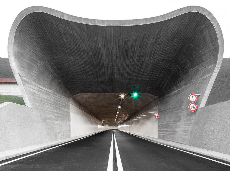 Дорожная инфраструктура в Больцано по проекту MoDusArchitects