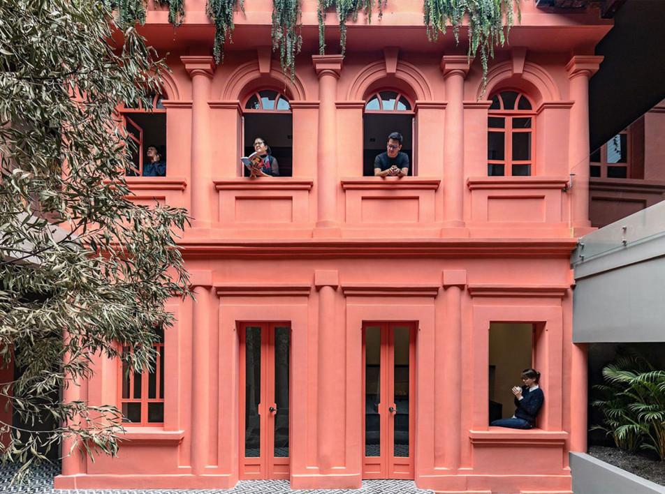 Розовый бутик-отель в Кито