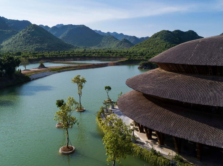 Бамбуковый купол по проекту Vo Trong Nghia Architects