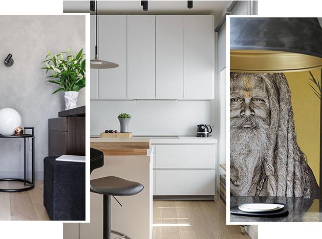 Omnia-studio: квартира с кухней-гостиной в Петербурге