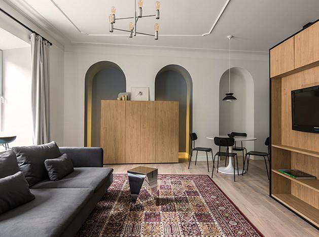 Двухкомнатная квартира в Вильнюсе с эффектной перепланировкой