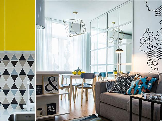 Bohostudio: маленькая яркая квартира в Киеве