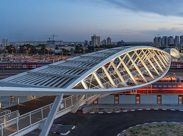 Bar Orian Architects: мост-восьмерка в Израиле
