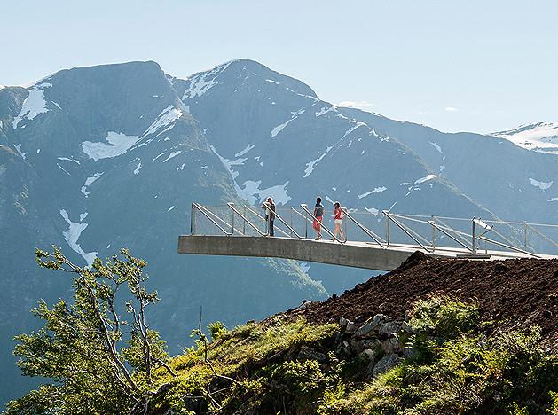 Смотровая площадка Utsikten в горах Норвегии