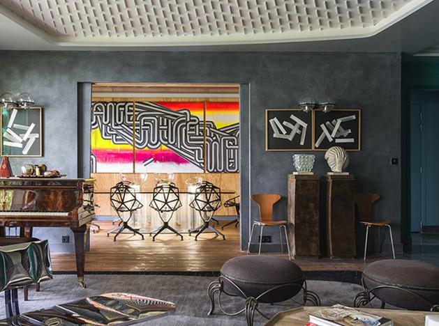 Квартира Фабриса Оссе: эталон эклектичного вкуса