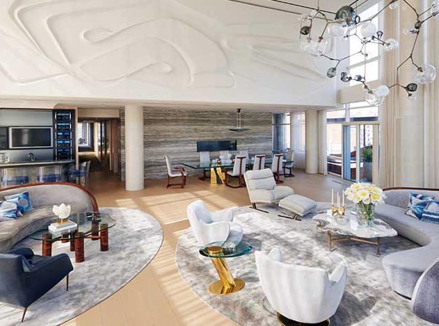 Уровень Эйми Ло: трехэтажный пентхаус на Манхэттене