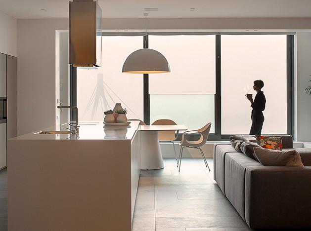 Rina Lovko Design: open space в доме на берегу Днепра