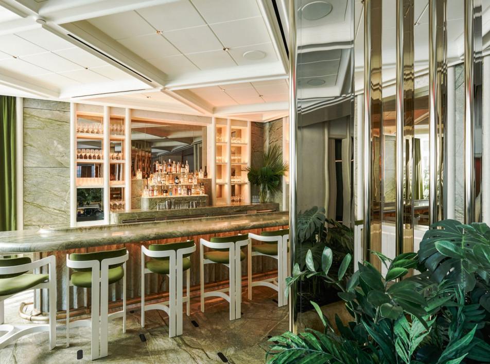 Зеленый ресторан в Нью-Йорке по проекту Жозефа Дирана