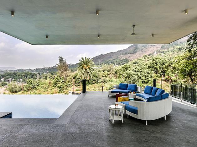 GA design: дом с бесконечным бассейном