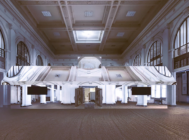 Дуг Эйткен: зеркальная инсталляция в старом банке Детройта
