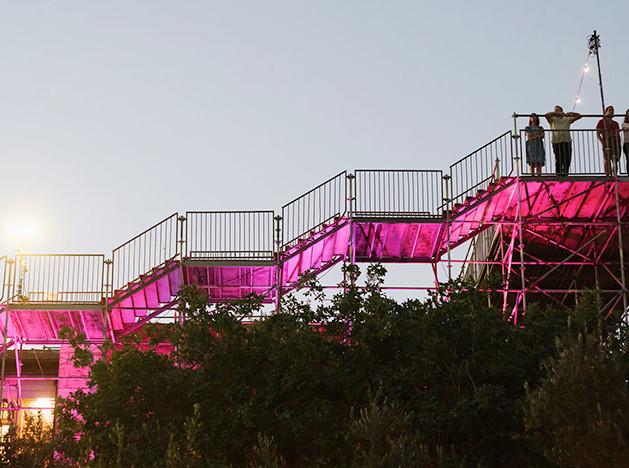HQ Architects: розовая лестница в Иерусалиме