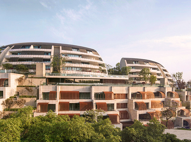 Safdie architects: жилье с бассейнами и висячими садами