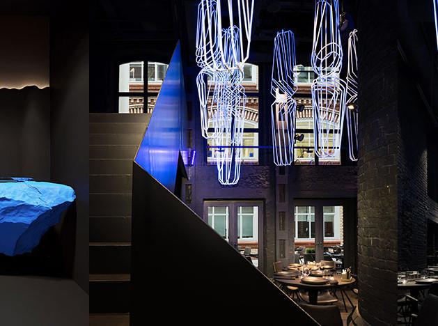 IND architects: гастробар с ультрафиолетом