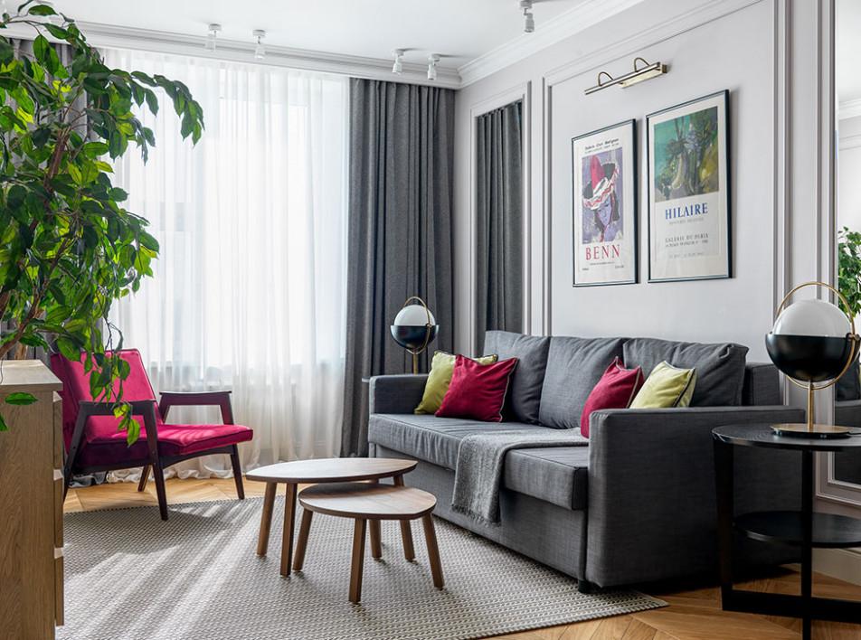 Виктория Власова: квартира 80 кв. метров с винтажной мебелью