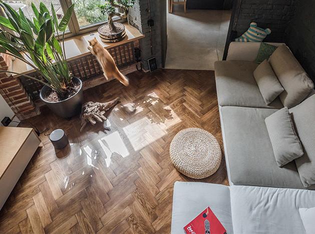 RE+ design bureau: квартира с котом и «наследством»