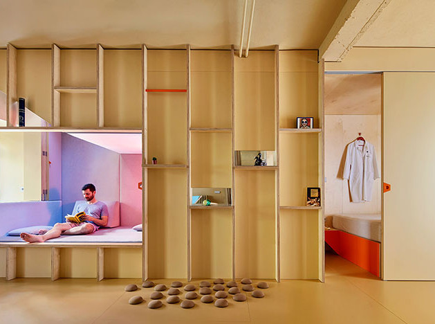Квартира в Мадриде: 46 кв. метров с гибкой планировкой