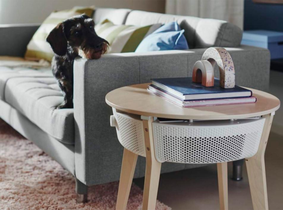 IKEA: журнальный столик с очистителем воздуха
