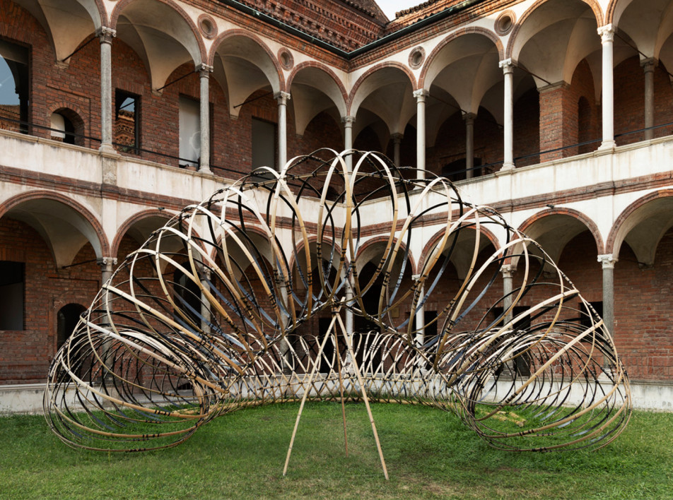 Milan Design Week 2021: музыка и форма в бамбуковой инсталляции Кенго Кумы