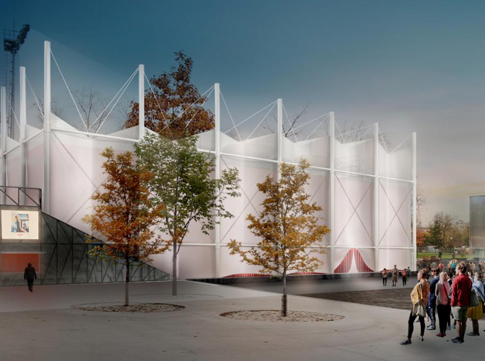 Студия SNKH из Еревана построит летний кинотеатр Garage Screen в Москве