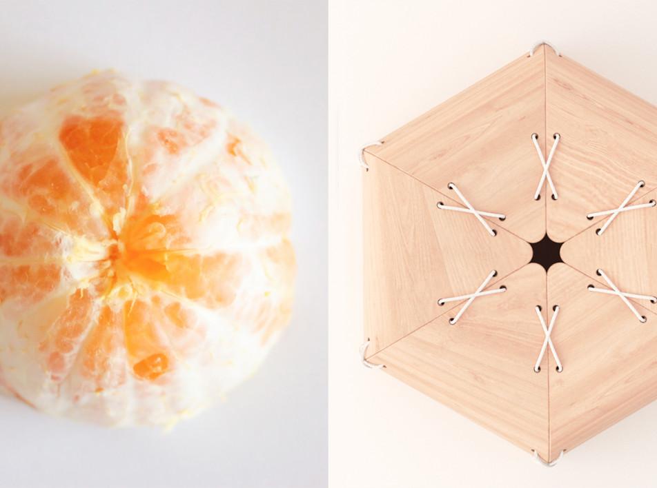 Лоренцо Вега: мандариновый табурет