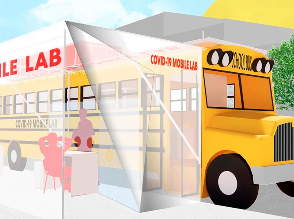 Архитекторы в помощь врачам: тесты в школьном автобусе