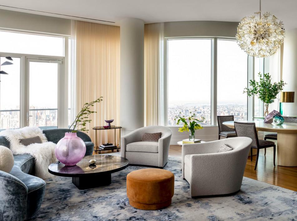 Квартира на 60-м этаже по дизайну Дэвида Скотта