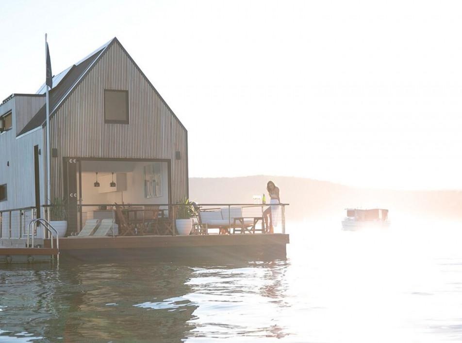 Плавучий дом у берегов Сиднея
