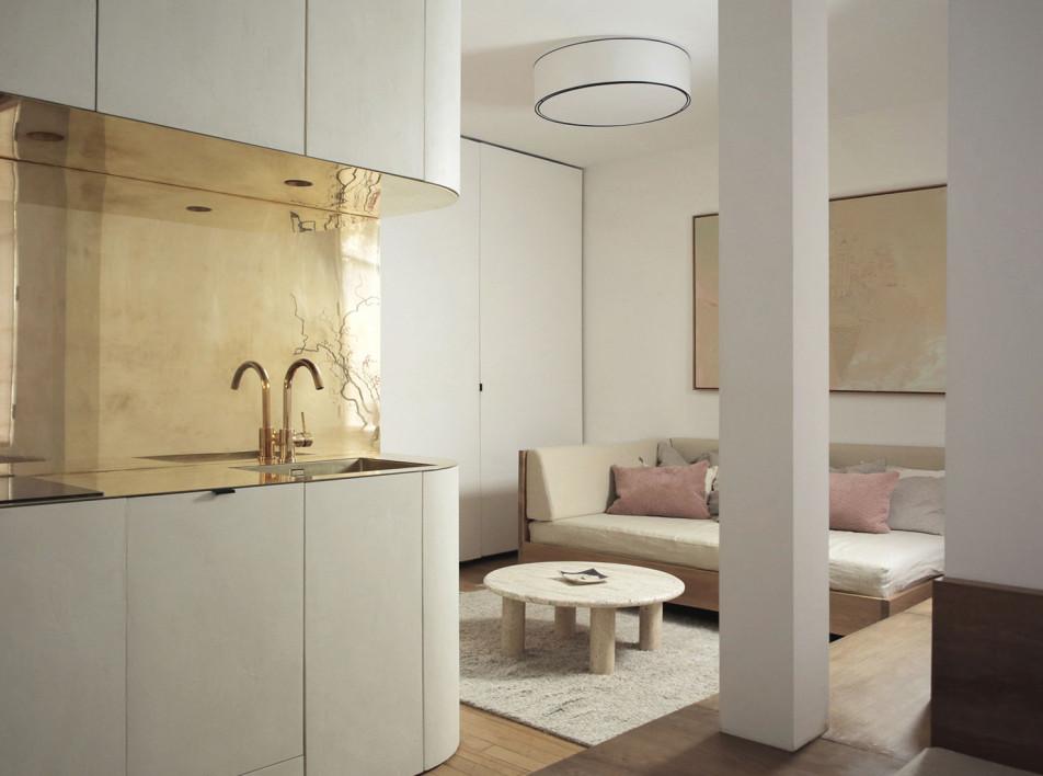 Маленькая парижская квартира по проекту Эммануэль Симон