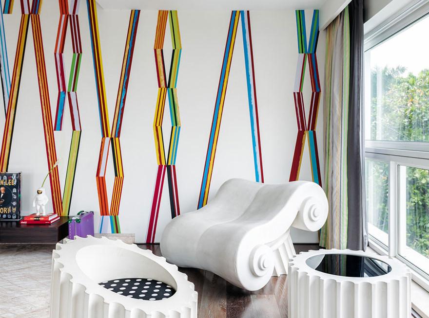 Джаннат Васи: квартира в Мумбае в стилистике поп-арта