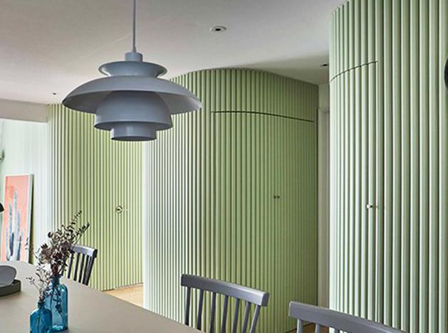 Daniel Valle Architects: квартира с фисташковыми стенами