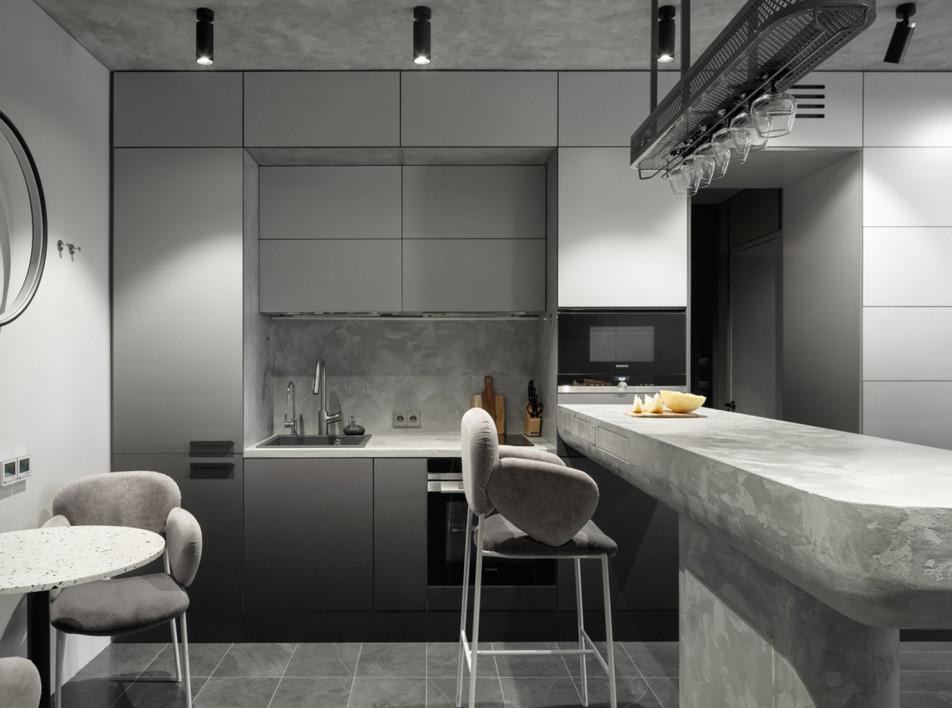A-Z architects: квартира в сером цвете в Москве