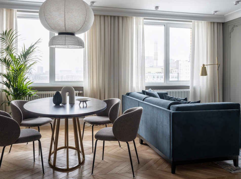 Студия BALCON: квартира в серых тонах