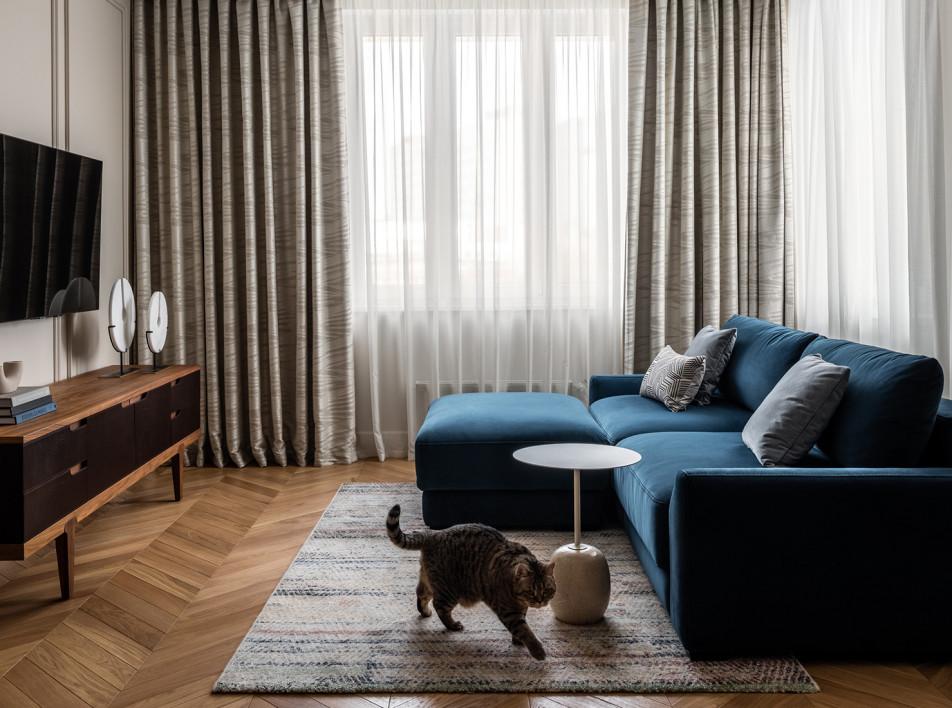 Бежевый в интерьере: квартира в Москве по проекту студии BALCON