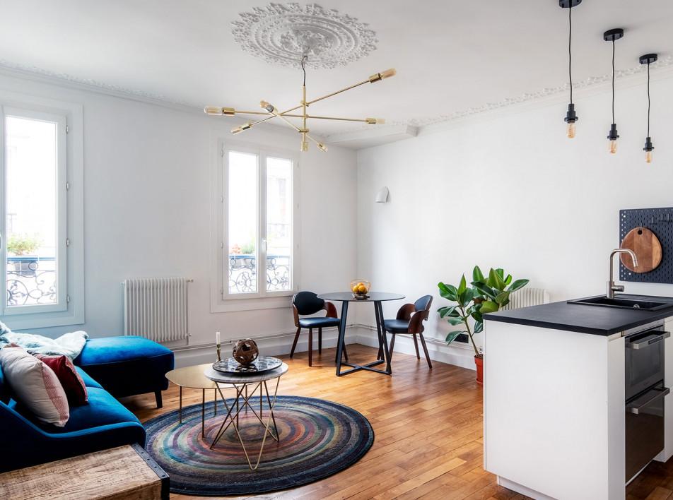 Маленькая квартира: 45 кв. метров в Париже