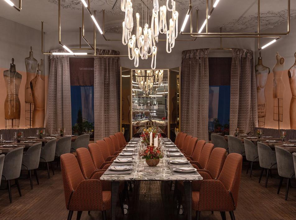 Ресторан Sartoria Lamberti по проекту Юны Мегре