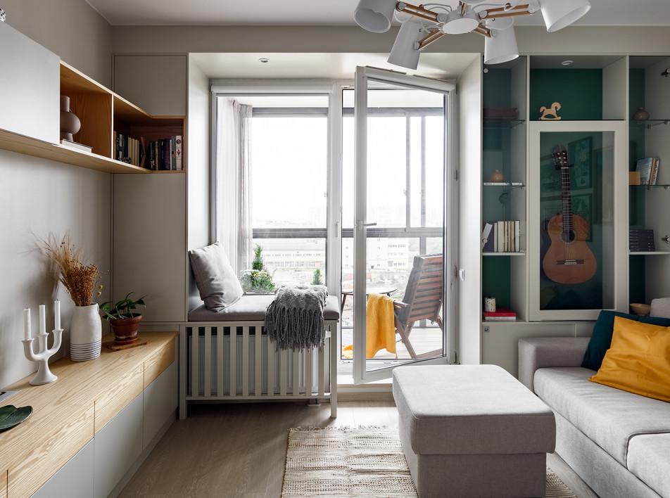 Маленькая квартира в Петербурге по проекту студии Малицких