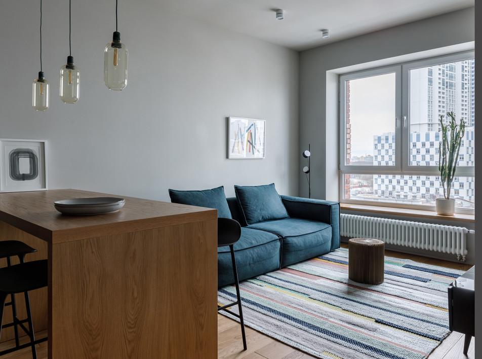 Компактная квартира для семьи из трех человек по проекту MO interior