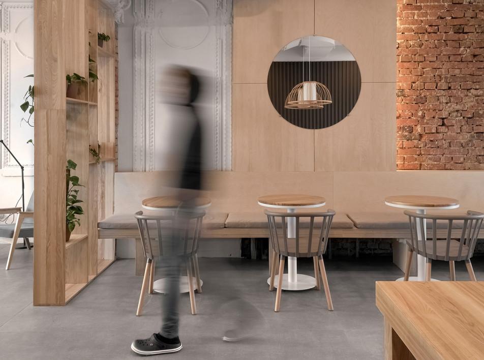 Кофейня в Екатеринбурге по проекту студии «Завод 11»
