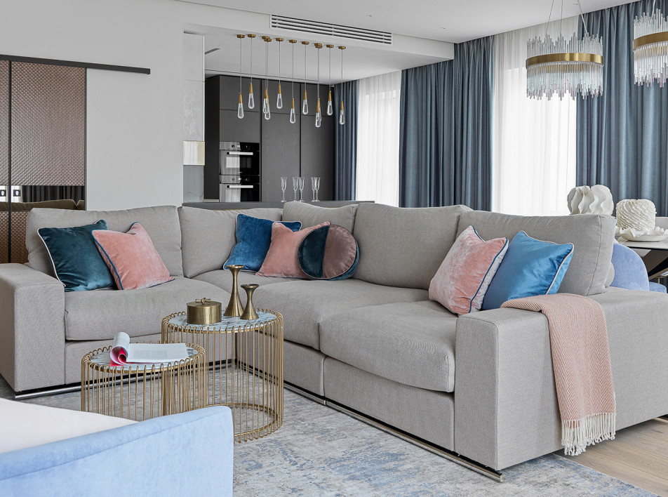 Rubleva Design: объединение трех квартир в ЖК Union Park