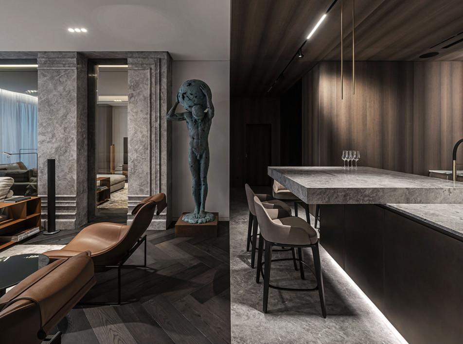 YoDezeen: маскулинная квартира нового формата в Киеве