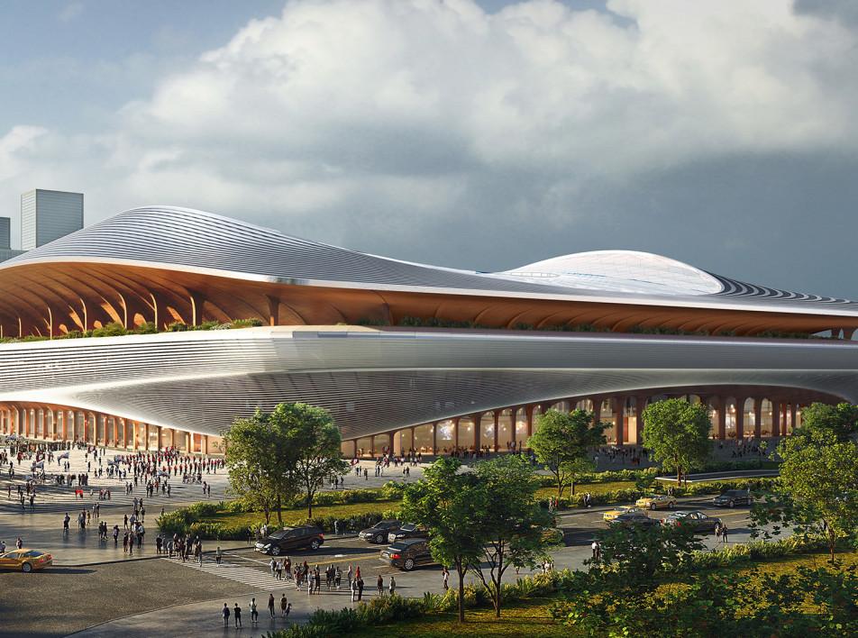 Zaha Hadid Architects: футбольный центр в Китае