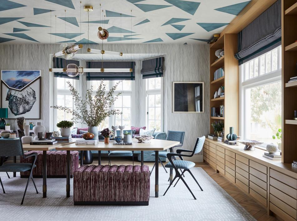Столовая по проекту Kelly Hohla interiors