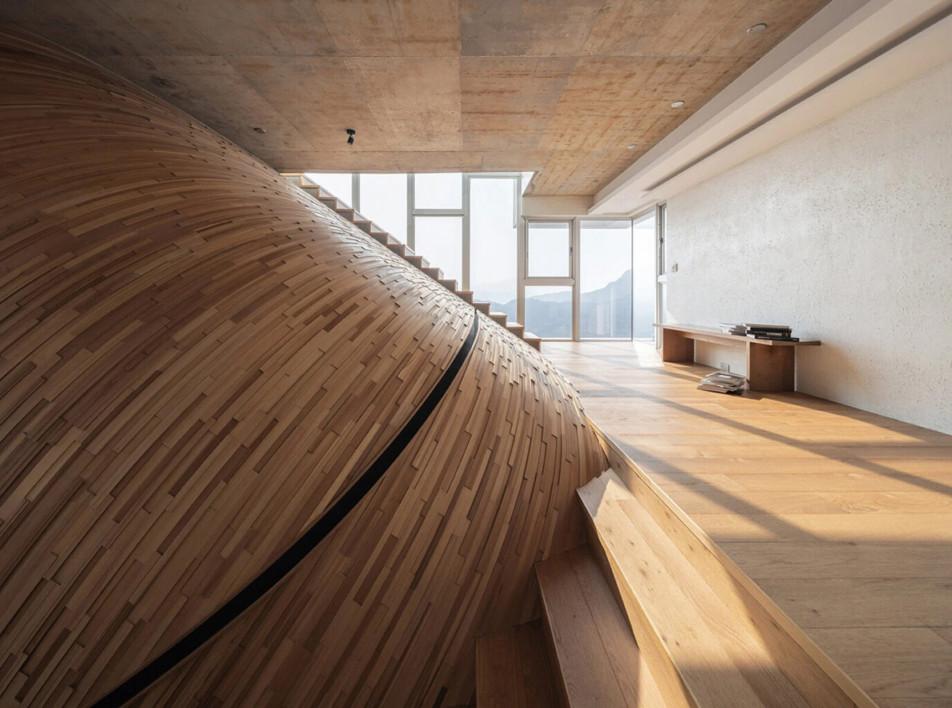 Дом с холмом внутри по проекту Yuan Architects