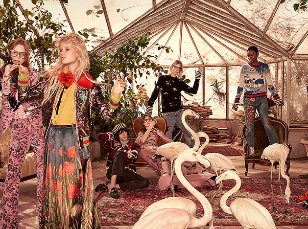 Gucci pre-fall 2016: райский сад Алессандро Микеле