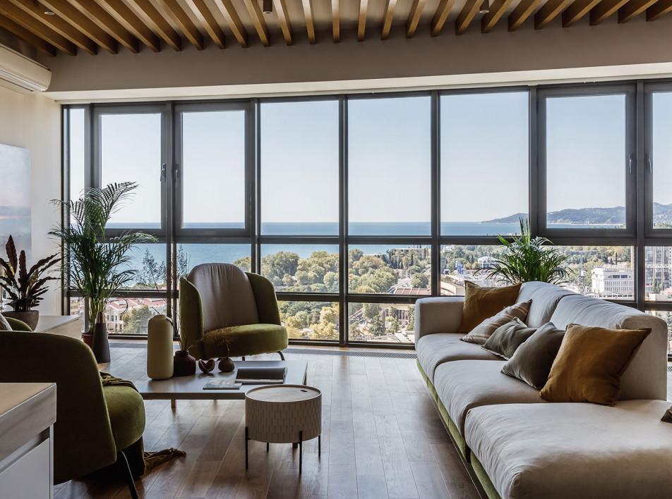 Елена Паунич: квартира в Сочи с видом на море