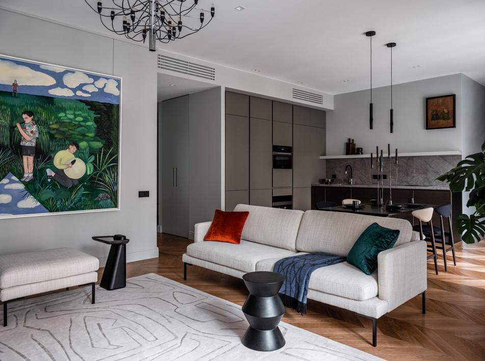 Илья Гульянц: квартира в центре Москвы для коллекционера современного искусства