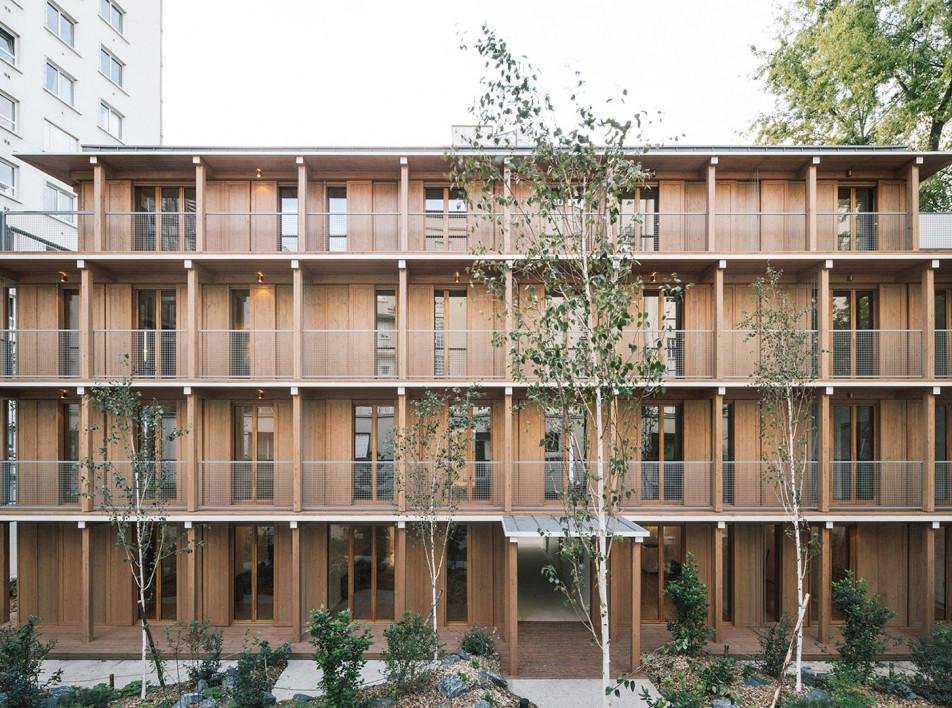 Mars Architectes: деревянный многоквартирный дом в Париже